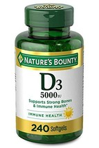 Vitamin D3 by Nature's Bounty, Supports Immune Health & Bone Health, 5000IU per