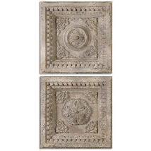 Uttermost 13910 Auronzo Aged Squares (Set of 2), Ivory - $321.20