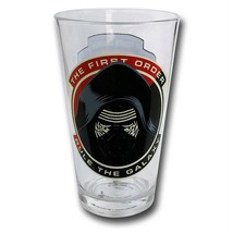 Star Wars Force Awakens Kylo Ren 16 oz Pint Glass Red - $18.98