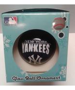 New York Yankees MLB Glass Ball Ornament Christmas Tree Holiday Team Spirit - $8.99