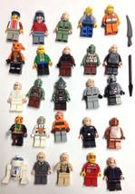 25 Lego Minifigures Star Wars R2-D2 Harry Potter Pirate kranxx space police Lot - $44.99