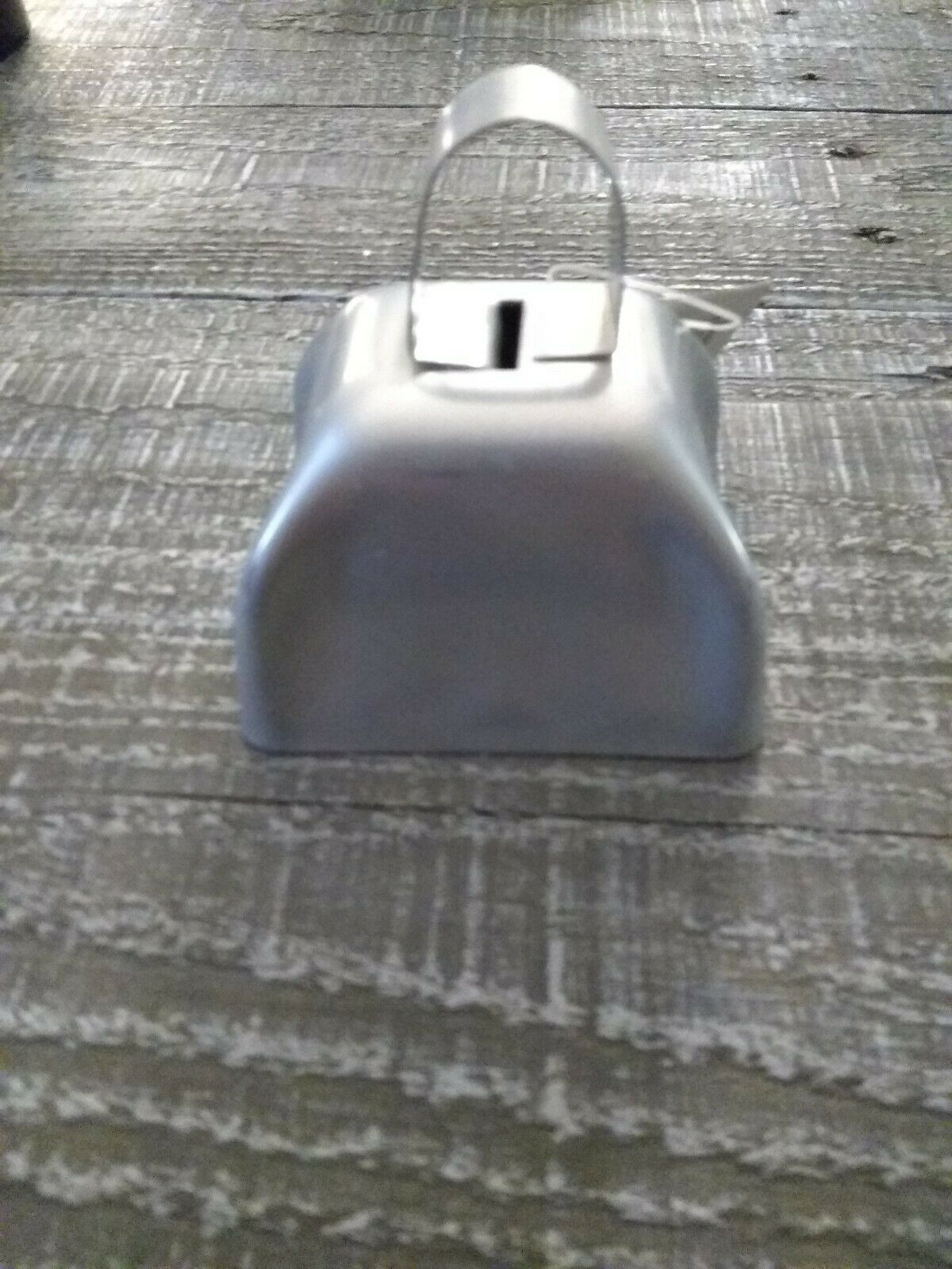 Metal Cow Bell Silver Rustic Primitive Home Decor New - $19.75