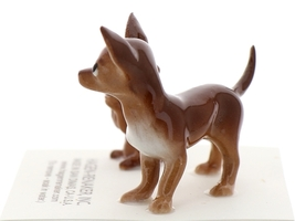 Hagen-Renaker Miniature Ceramic Dog Figurine Chihuahua Mama and Tiny Pup Brown image 2