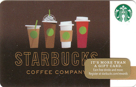 Starbucks 2016 Drink Lineup Collectible Gift Card New No Value - $4.99