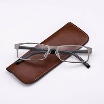 Reading Glasses Men Business Readers Metal Frame Rectangular +1 +3 +2 - $16.91