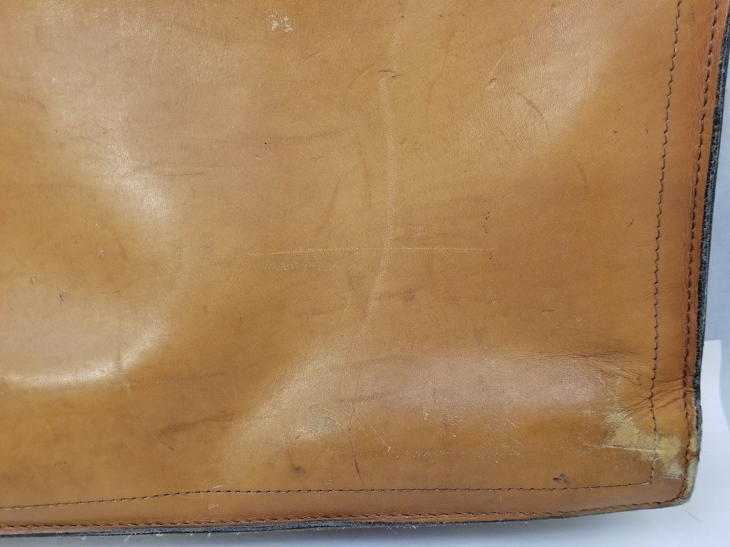 "Vintage Schlesinger Brothers Leather Cloth Briefcase Brown 16.5""x12""x3"" Attache"