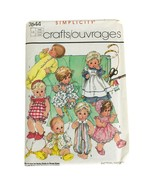 """1986 Simplicity 7644 365 DY DEE Baby Doll Clothes Sewing Pattern Large 17-18"""" - $9.85"""