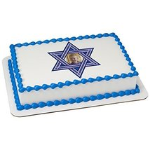 Star of David Frame Add your Own Picture Edible Frosting Image 1/4 sheet Cake To - $9.99