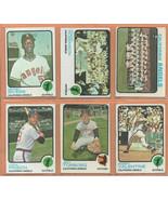 1973 Topps California Angels Team Lot 25 diff Frank Robinson Mickey Rive... - $35.00
