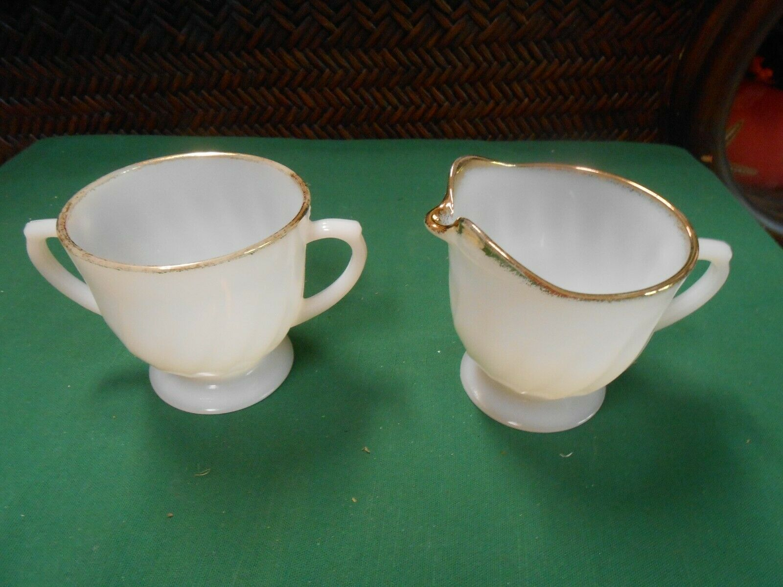 Primary image for Great FIRE KING White-Gold Trim ..SUGAR & CREAMER