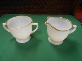 Great Fire King White-Gold Trim ..Sugar & Creamer - $8.50