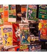 Football Card Collection of 25 Unopened Wax Packs. BONUS DAN MARINO ROOK... - $24.99