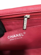 AUTHENTIC CHANEL MAXI RED PINK QUILTED SOFT CAVIAR CLASSIC FLAP BAG SHW image 8