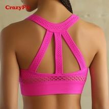 Push Up Sports Bra High Impact Running Padded Women Seamless Yoga Fitnes... - $18.99