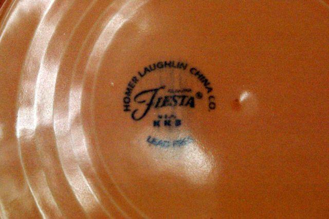 Homer Laughlin 1998 Fiesta Apricot Soup Bowl image 3