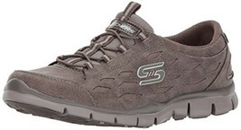 Skechers Gratis Simply Serene Memory Foam Slip On Taupe Sneaker 9 M Ln 22774 - $24.99