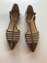 Ivanka Trump Tory caged t ankle strap flats 7.5 PREOWNED - $39.99