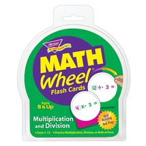Math Wheel Multiplication & Division Flash Card Game Contains Over 240 E... - $18.24