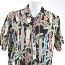 Reyn Spooner Hawaiian Traditional Large Surfboards Palm Trees Shirt - $29.69