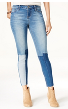 Rampage Juniors' Sophie Space Wash Patched Skinny Jeans, Size 5, MSRP $49 - $23.75