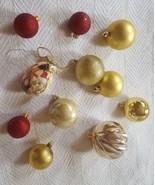 LOT (11) BALL CHRISTMAS tree holiday season decoration Ornaments pre-owned - $12.07