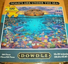 Jigsaw Puzzle 500 Pieces Noahs Ark Tropical Fish Ocean Life Complete Fam... - $15.83