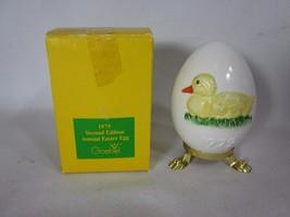 Goebel 1979 Ceramic Easter Egg Duckling in original box - $14.84