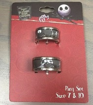 Disney The Nightmare Before Christmas Spiral Hill His 10 Hers 7 Ring Set... - $19.30