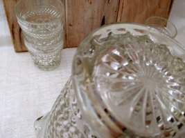 """5 Anchor Hocking Wexford """"On the Rocks"""" old fashioned glasses and Pitcher image 6"""