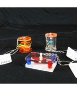 Lot 3 Paradise Toys Med Large Parrot Acrylic Activity Toy Rattle Caitec - $10.99