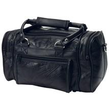 Genuine Black Leather Men Toiletry Bag Shaving Kit Carry Travel Duffle B... - $26.93