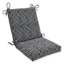 Pillow Perfect Outdoor | Indoor Herringbone Night Squared Corners Chair ... - £27.02 GBP