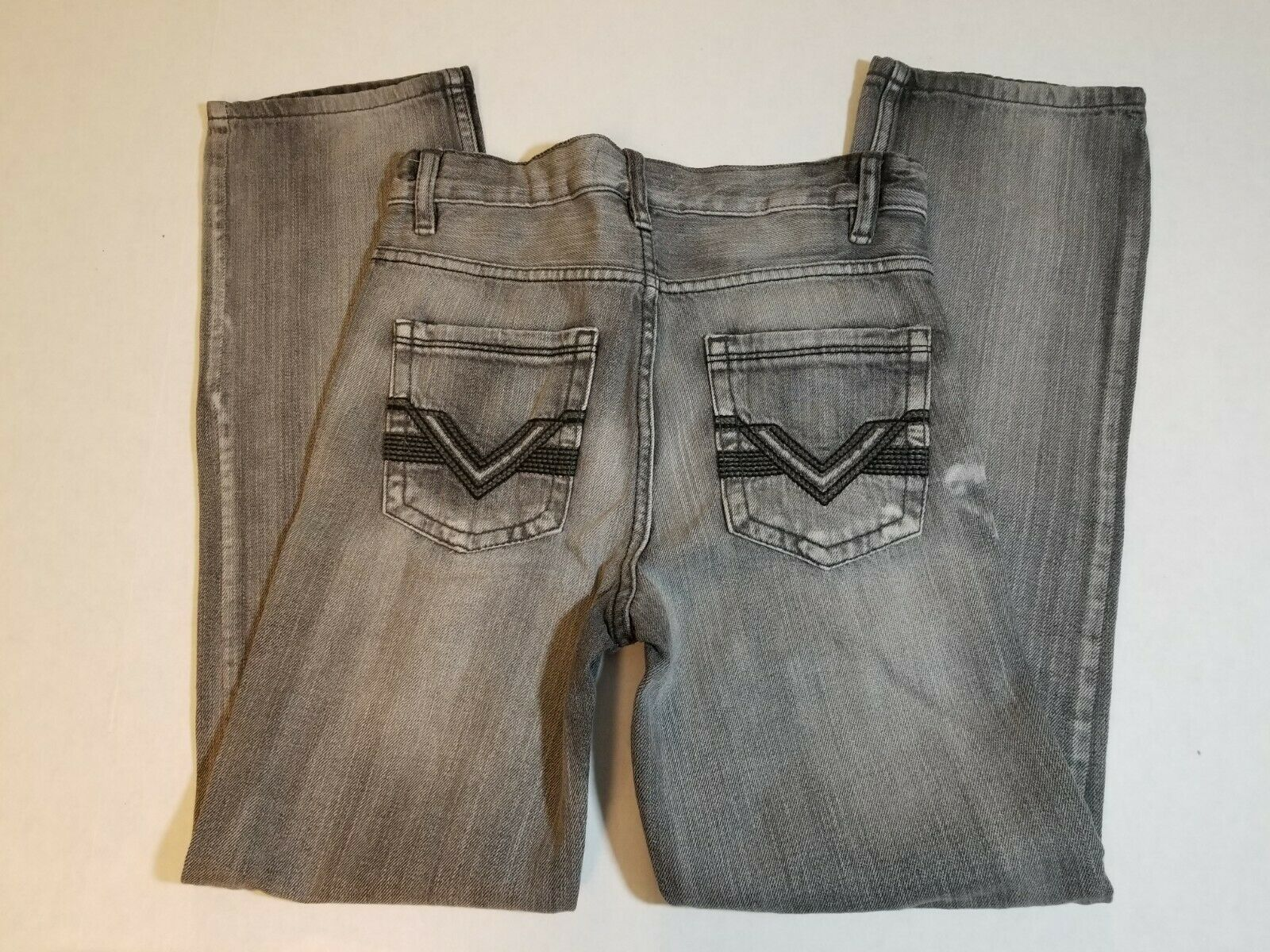 NWT Route 66 Boys Youth Slim Straight Jeans Size 12 Black Denim Pants