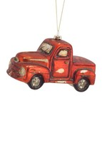 Melrose Vintage Red Pickup Truck  Glass Ornament 68430