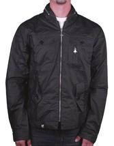LRG Mens Black Lightweight 100% Cotton Foressence Zip Up Jacket Windbreaker Coat