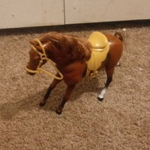 Breyer Classic brown horse with light saddle  - $16.01