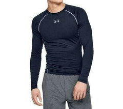 Under Armour Men's Heatgear Compression LS Tee NEW AUTHENTIC Navy 125747... - $34.99