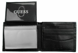 Guess Men's Leather Credit Card Id Wallet Passcase Bifold Black 31GU22X030 image 4
