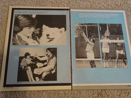 Kristy Mcnichol teen magazine pinup clipping sitting on a couch tennis time Bop