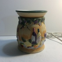 Yankee Candle Electric Tart/Wax Warmer Wine And Cheese Great Condition!! - $13.84