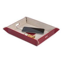 Bey Berk Large Leather Snap Valet and Charging Station Tray Red - $45.95