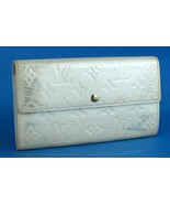 Auth LOUIS VUITTON Portefeiulle Beige Vernis Leather Long Wallet TH0056... - $143.55