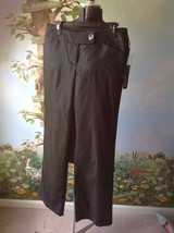 Willi Smith Women  Black Fly Front Side Pockets  Dress Pants Size 8 New - $35.63