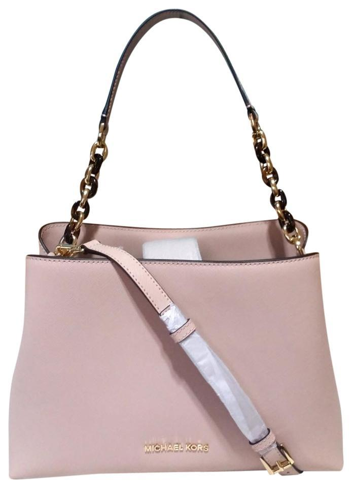 6c6c6cacf521 Sofia portia large east west tote ballet pink leather satchel 1