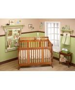Green Tan Teddy Bear 10pcs Crib Bedding Set Baby Boy Nursery Quilt Mobil... - $97.91