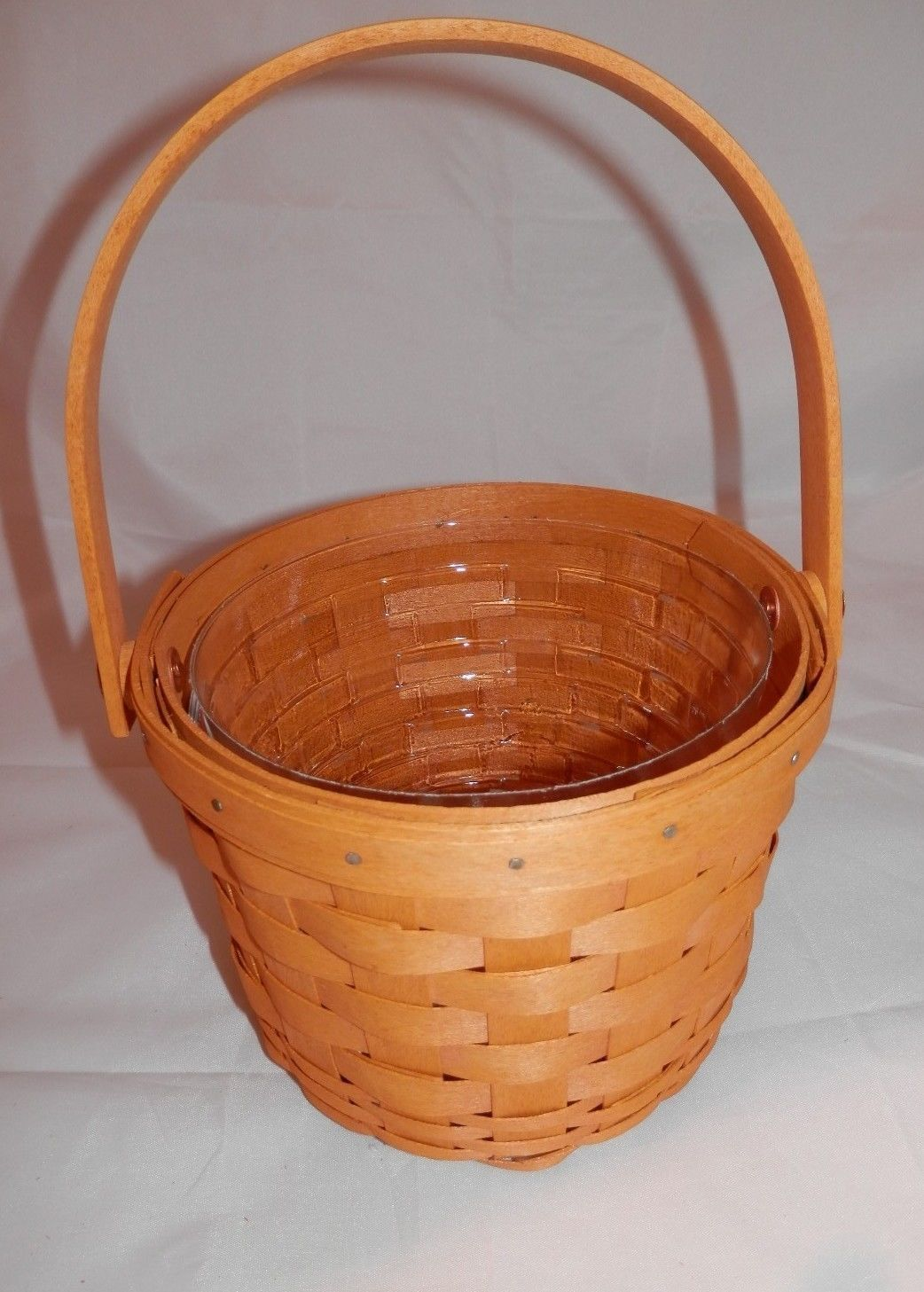 Longaberger Small Fruit Basket Ivy Green Fabric OE Fabric Liner Only New