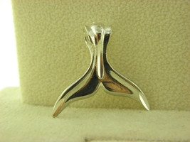 1 of a Kind Sterling Silver Dolphin Fin Pendant #2 - $8.81