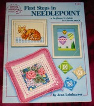 """FIRST STEPS IN NEEDLEPOINT """"A Beginner's Guide to Canvas Work"""" #5104 - $3.75"""