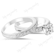 White Diamond 14k White Gold Over 925 Sterling Silver Round Cut Engageme... - $125.00