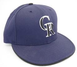 Colorado Rockies Purple Pro Back Fitted Hat Size 7 Wool New Era Silver &... - $15.83
